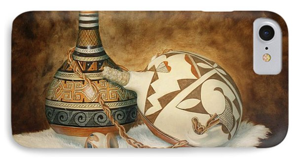 Oil Painting - Indian Pots IPhone Case by Roena King