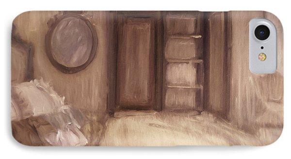 Oil Painting Of A Bedroom/ Digitally Painting IPhone Case by Sandra Cunningham