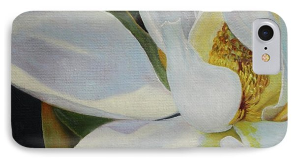 Oil Painting - Sydney's Magnolia IPhone Case by Roena King