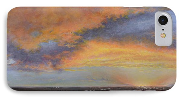 Oil Painting When The Sky Turns Color IPhone Case by Roena King