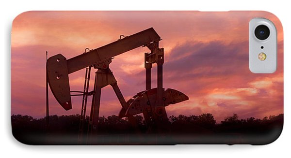 Oil Pump Jack Sunset IPhone Case