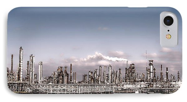 Oil Refinery Phone Case by Olivier Le Queinec