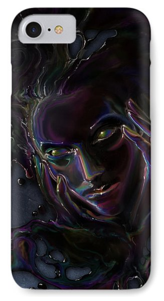Oil Spill IPhone Case by Cassiopeia Art
