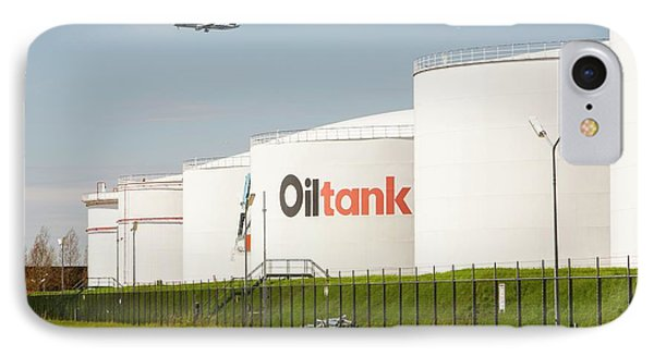 Oil Terminal In Amsterdam IPhone Case by Ashley Cooper