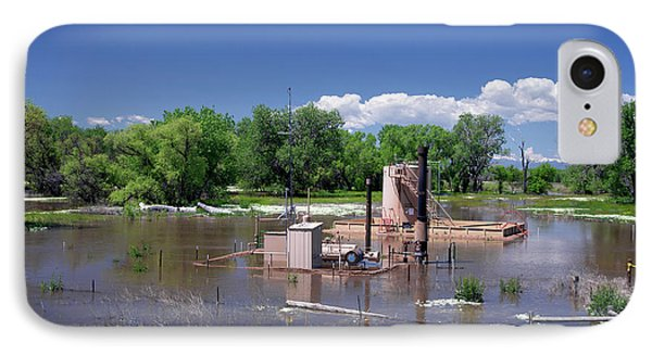 Oil Well Flooded By River IPhone Case