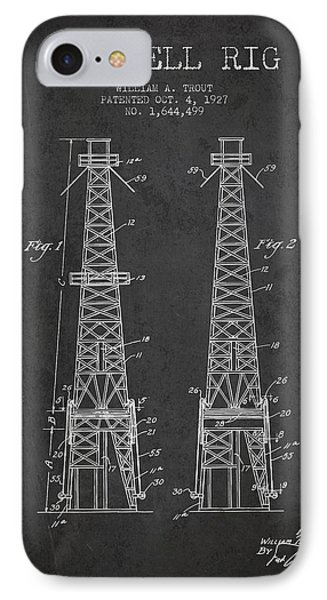 Oil Well Rig Patent From 1927 - Dark IPhone Case