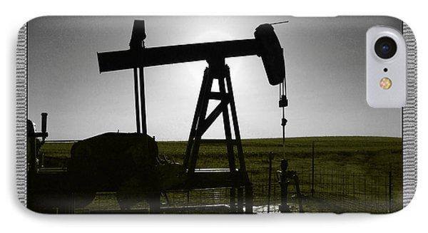 Oil Well IPhone Case by Thomas Bomstad