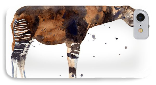 Okapi Painting IPhone Case by Alison Fennell