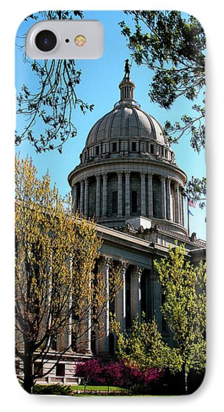 Oklahoma City Capitol In The Spring IPhone Case by Toni Hopper