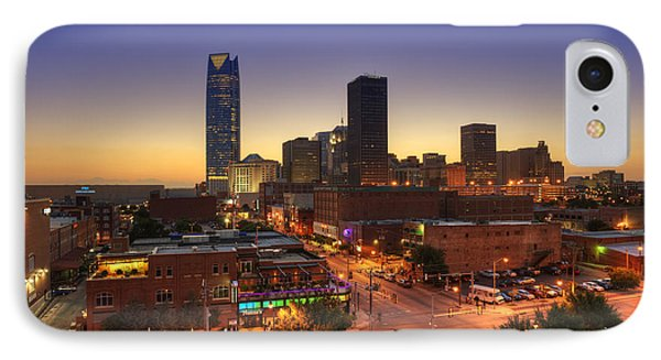 Oklahoma City Nights Phone Case by Ricky Barnard