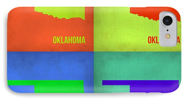 Oklahoma Pop Art Map 1 Phone Case by Naxart Studio