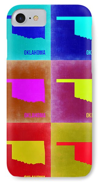 Oklahoma Pop Art Map 2 Phone Case by Naxart Studio