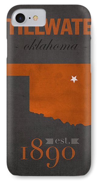 Oklahoma State University Cowboys Stillwater College Town State Map Poster Series No 084 IPhone Case by Design Turnpike