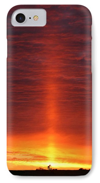 IPhone Case featuring the photograph Oklahoma Sunrise by Christopher McKenzie