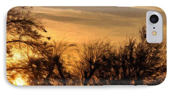 Oklahoma Sunset Phone Case by Jeffrey Kolker