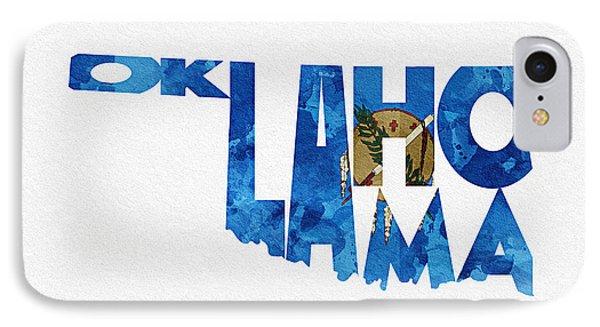Oklahoma Typographic Map Flag IPhone Case
