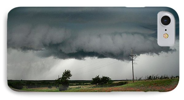IPhone Case featuring the photograph Oklahoma Wall Cloud by Ed Sweeney