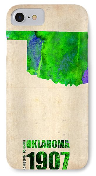 Oklahoma Watercolor Map Phone Case by Naxart Studio