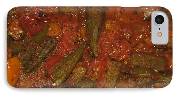 Okra And Tomatoes IPhone Case by Cleaster Cotton copyright
