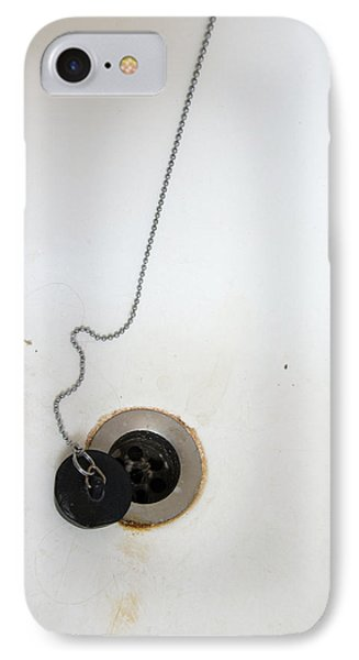 Old And Dirty Bathtub With Drain And Plug   Phone Case by Matthias Hauser