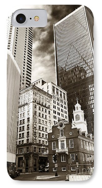 Old And New In Boston Phone Case by John Rizzuto