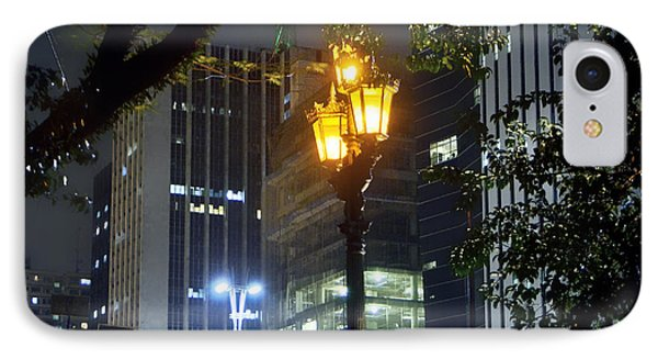 Old And New Lamp Posts - Paulista Avenue IPhone Case by Carlos Alkmin