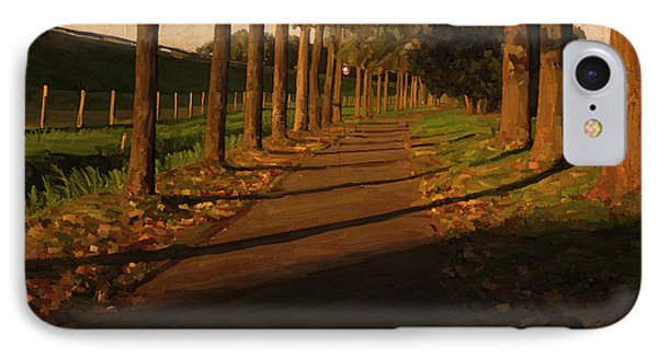 IPhone Case featuring the painting Old And New Road In Tilburg by Nop Briex