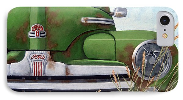 Old And Rusty Vintage Ford Realism Auto Scene IPhone Case by Linda Apple