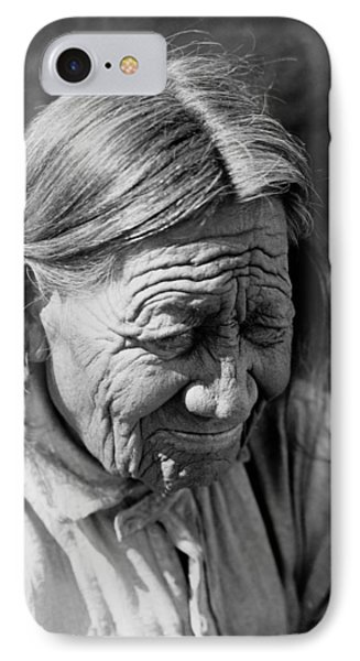 Old Arapaho Man Circa 1910 IPhone Case by Aged Pixel
