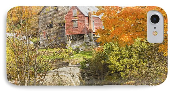 Old Barn And Dam In Autunm Vienna Maine IPhone Case by Keith Webber Jr