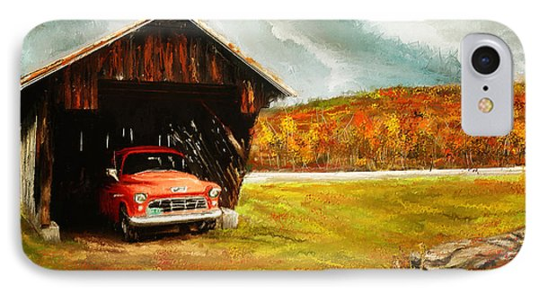 Old Barn And Red Truck IPhone Case by Lourry Legarde
