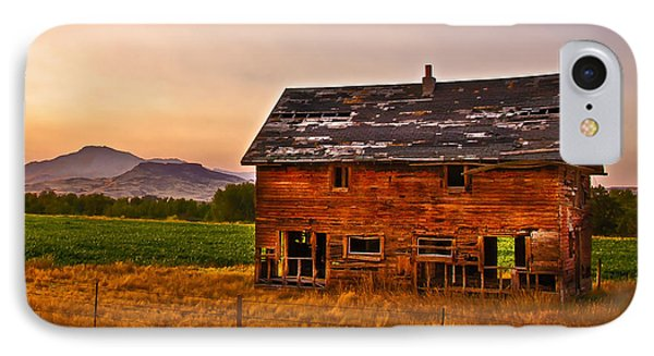 Old Barn At Sunrise IPhone Case by Robert Bales