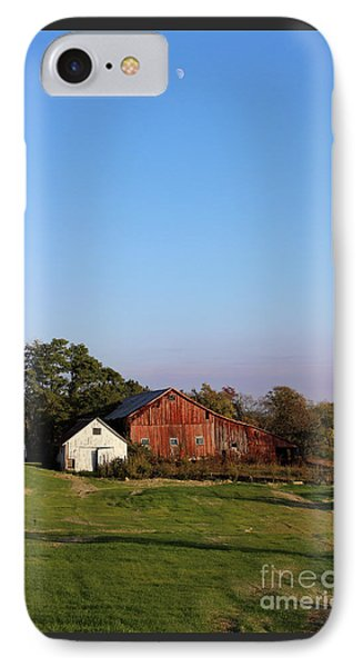 Old Barn At Sunset Phone Case by Karen Adams