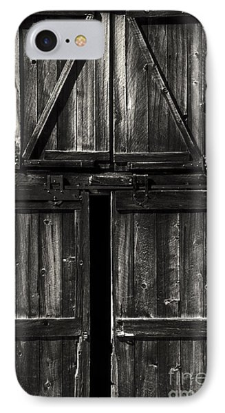 Old Barn Door - Bw Phone Case by Paul W Faust -  Impressions of Light