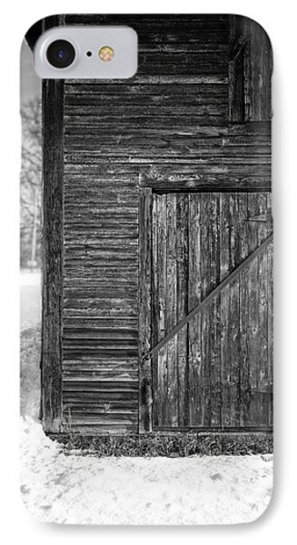 Old Barn Door Windsor Vermont IPhone Case by Edward Fielding
