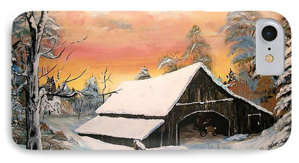 IPhone Case featuring the painting Old Barn Guardian by Sharon Duguay