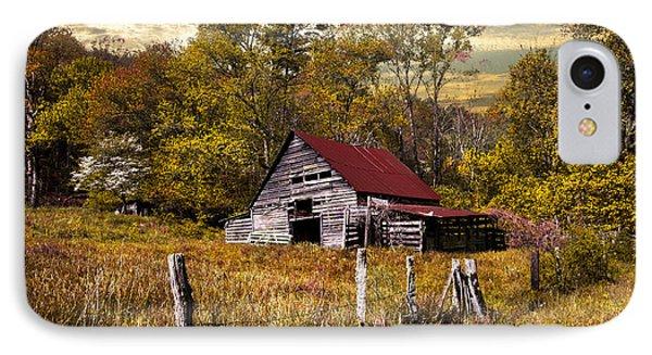 Old Barn In Autumn Phone Case by Debra and Dave Vanderlaan