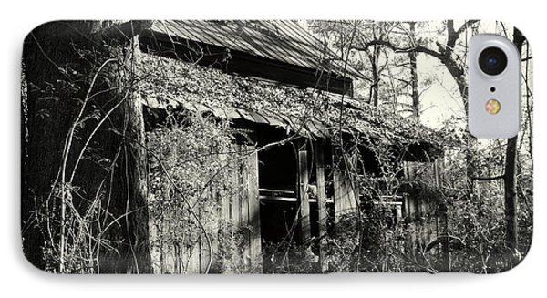 Old Barn In Black And White IPhone Case