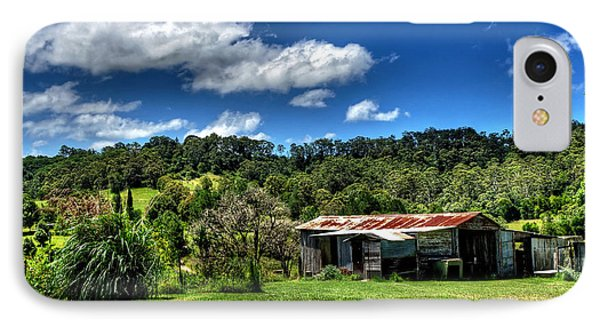Old Barn In Lush Green Countryside Phone Case by Kaye Menner