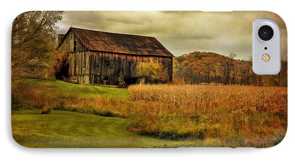 Old Barn In October Phone Case by Lois Bryan