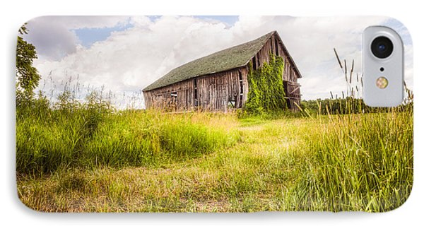 IPhone Case featuring the photograph Old Barn In Ontario County - New York State by Gary Heller