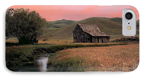 Old Barn In The Pioneer Mountains IPhone Case by Leland D Howard