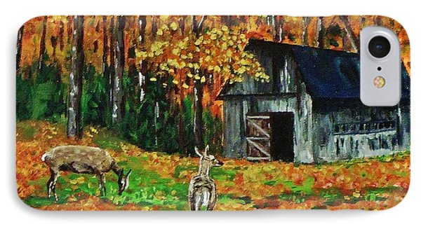 Old Barn In The Woods IPhone Case by Mike Caitham