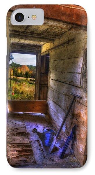 Old Barn Interior IPhone Case by Joann Vitali