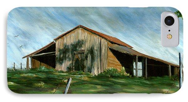 Old Barn Landscape Art Pleasant Hill Louisiana  IPhone Case
