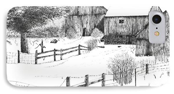 Old Barn IPhone Case by Rahul Jain