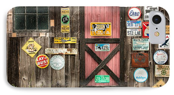 Old Barn Signs - Door And Window - Shadow Play Phone Case by Gary Heller