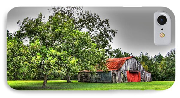IPhone Case featuring the photograph Old Barn With Red Door by Lanita Williams