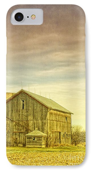 Old Barn With Silo IPhone Case by Birgit Tyrrell