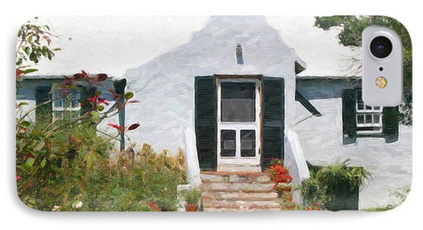 IPhone Case featuring the photograph Old Bermuda Home by Verena Matthew